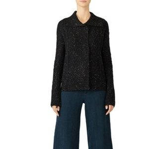 Michael Stars Cardigan Sweater Flecked Cable